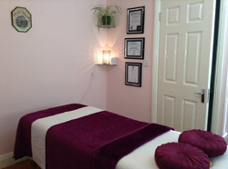 Reflexology treatment room